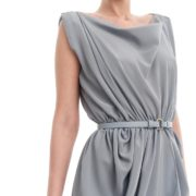 Blue-crepe-silk-draped-dress-3