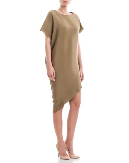 Assymmetric-Neutral--Khaki-Silk-Crepe-Dress1