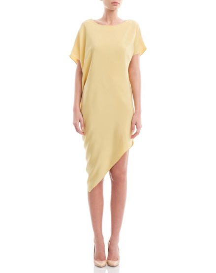 Assymmetric--Yellow-Silk-Satin-Dress1