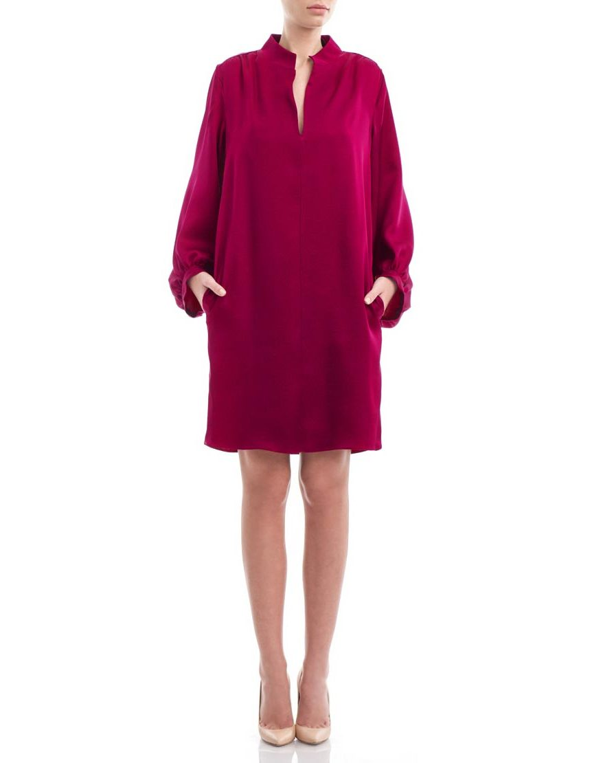 Magenta-silkcrepe-loose-dress1