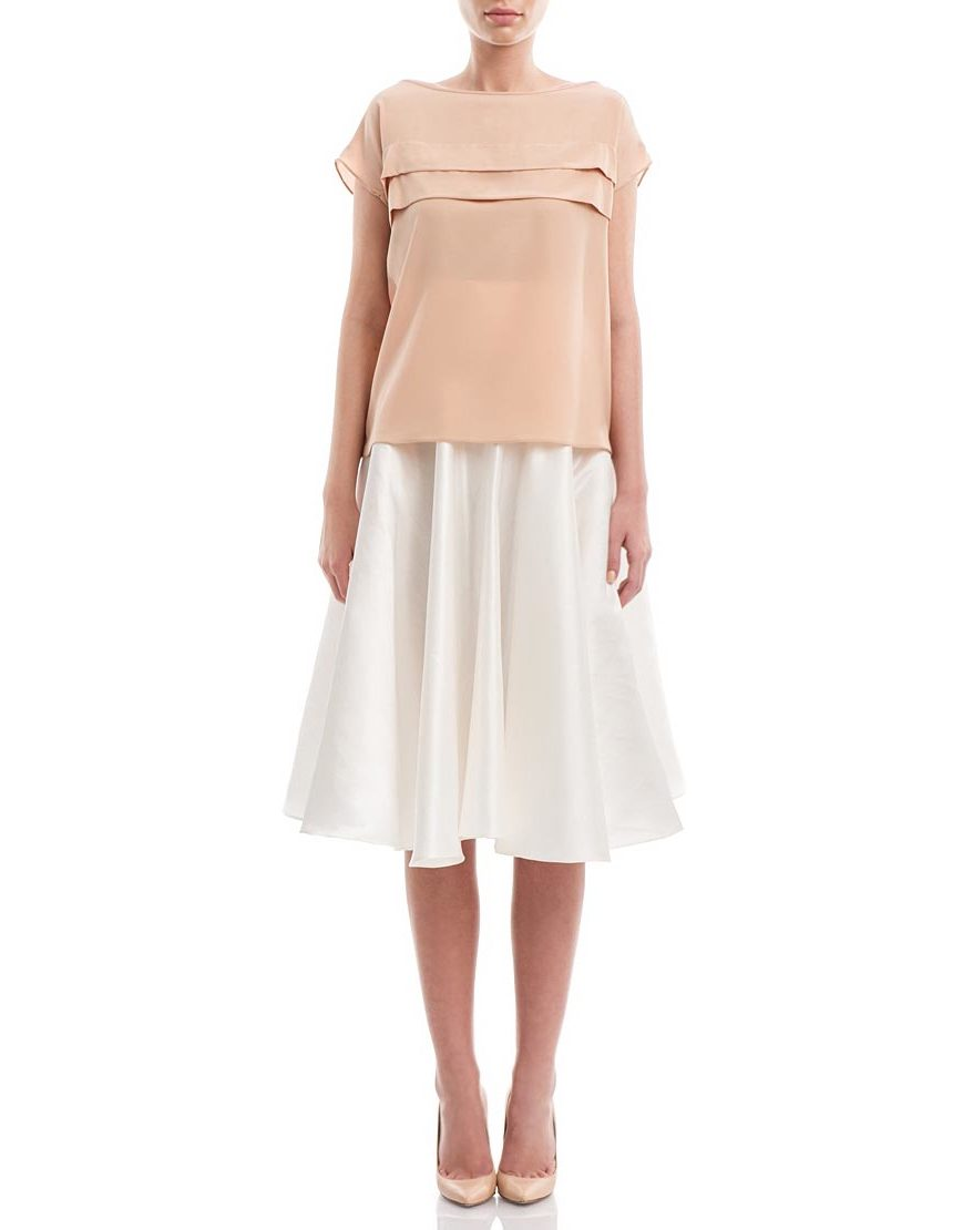 Peach-Crepe--Fold-Line-Top--Traditional1