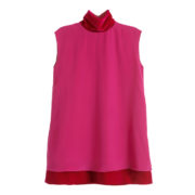 magenta-silk-and-velvet-mini-dress