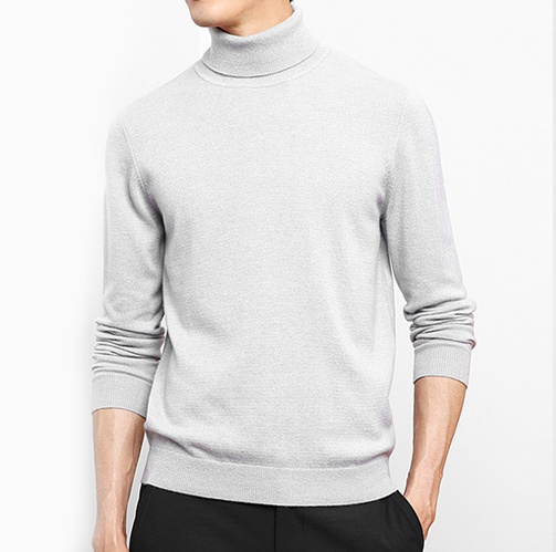 Turtle Neck Cashmere Sweater Men